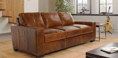 Lawrence  3 Seater Leather Sofa  Sale Price  £1349