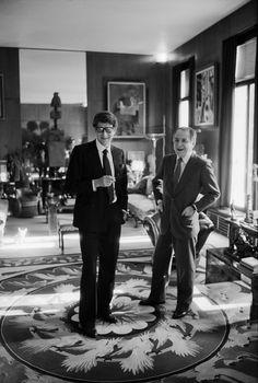 Yves Saint Laurent et Pierre Bergé, photo by VLADIMIR SICHOV