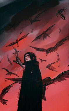 You know you're under his Genjutsu when crows be flying. Naruto Shippuden Sasuke, Naruto Kakashi, Anime Naruto, Madara Uchiha, Naruto Art, Manga Anime, Itachi Akatsuki, Naruto Wallpaper, Wallpaper Naruto Shippuden