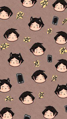 Hello Kitty Iphone Wallpaper, Chibi Wallpaper, Haikyuu Wallpaper, Cute Anime Wallpaper, Cute Wallpaper Backgrounds, Wallpaper Iphone Cute, Cute Cartoon Wallpapers, Animes Wallpapers, Otaku Anime