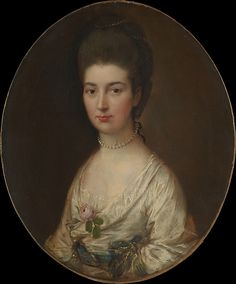 Mrs. Ralph Izard (Alice De Lancey, 1746/47–1832)  Thomas Gainsborough (English, Sudbury 1727–1788 London)  Medium: Oil on canvas Dimensions: Oval, 30 1/4 x 25 1/8 in. (76.8 x 63.8 cm) Classification: Paintings Credit Line: Bequest of Jeanne King deRham, in memory of her father, David H. King Jr., 1966 Accession Number: 66.88.1