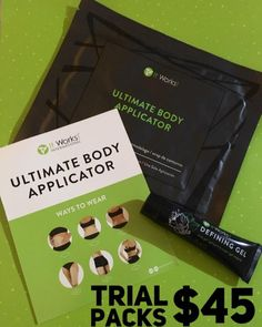 Trial packs available now at $45 ONLY 4 AVAILABLE!!! 1x Ultimate body applicator wrap 1x Defining gel sample Message me now to gets yours!  Wraptothin.myitworks.com