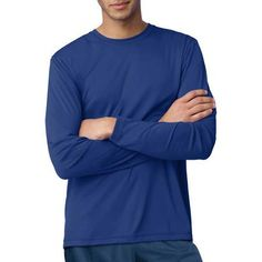Hanes Men's Long Sleeve CoolDri Performance Tee (50+ UPF Rating) - Walmart.com