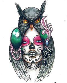 Owl Tattoo Drawings, Tribal Drawings, Tattoo Sketches, Owl Tattoo Design, Tattoo Sleeve Designs, Sleeve Tattoos, Skull Tattoos, Body Art Tattoos, Tribal Owl Tattoos