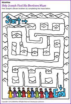 Help Joseph Find His Brothers (Maze) - Kids Korner - BibleWise