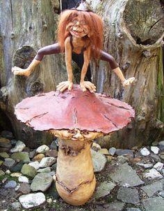 Troll on mushroom by Gniffies.deviantart.com on @deviantART