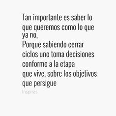 Cerrar ciclos pic.twitter.com/bl1OHZhYlP Pretty Quotes, Love Me Quotes, Happy Quotes, Words Quotes, Quotes To Live By, Life Quotes, Sayings, More Than Words, Some Words