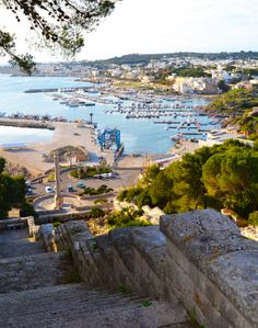 The magnificent view from the stairs leading to the port from the #Sanctuary of Santa Maria di #Leuca, Apulia. #AriaLuxuryApulia #VillasWithPoolPuglia
