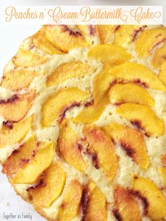 Peaches n' Cream Buttermilk Cake