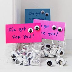 The Eyes Have It: Look no further for a funny valentine! Oodles of chocolaty eyes make this card's sentiment extra sweet.