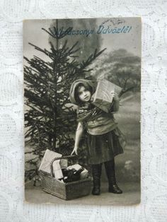 Photo Postcards, Vintage Postcards, Red Riding Hood, Little Red, Antiques, Christmas, Painting, Ebay, Art