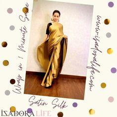 Cotton Silk, Silk Satin, Party Sarees, Satin Saree, Pink Sandals, Printed Sarees, Silk Fabric, Cod, Ready To Wear