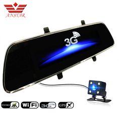 ANSTAR 7 inch 3G Car Camera DVR GPS Bluetooth Dual Lens Rearview Mirror Video Recorder FHD 1080P Car DVR Mirror Dash cam