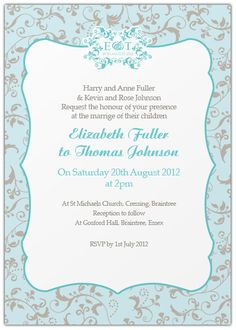 wedding invitation wording both parents informal google search - Wedding Invitation Wording Both Parents