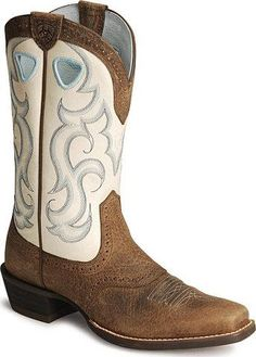 Ariat Western Boots Womens Cowboy Rawhide 7.5 B Sassy Brown ...