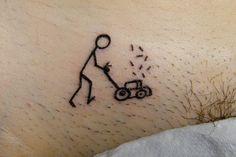 lawn mower tattoo on pubis cat tattoo pinterest tatuajes nuevas y cosas. Black Bedroom Furniture Sets. Home Design Ideas