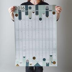 2016 wall calendar by Lollipop Designs.