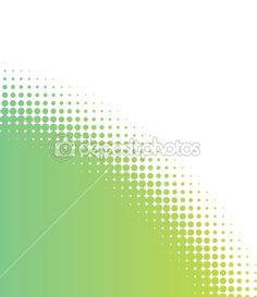 green halftone dots background by Jo Ingate - Stock Vector
