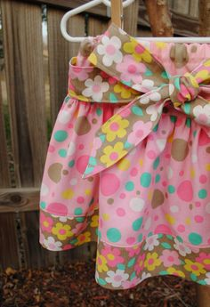 Girls Twirl Skirt with Sash Ties in front or by BugaboosCloset, $21.50