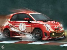 Tribute: FIAT Abarth 500 Assetto Corse by shiprock.deviantart.com on @DeviantArt