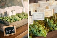 More awesome wine country escort card inspiration! Photo by Matt Edge