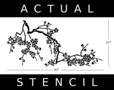 Japanese Cherry Blossom Stencil   Japanese Cherry Blossoms Stencil