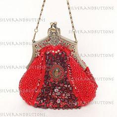 Victorian+Antique+Style+Beaded+Sequin+Evening+Bag+Clutch+HANDBAG+Wedding+Party