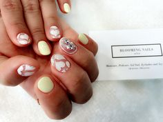 Lemon & See-through & Heart NailArt From. Bloomingnails