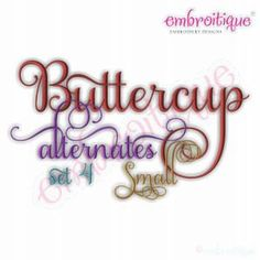 Buttercup Monogram Set Alternates 4  Small Machine by Embroitique