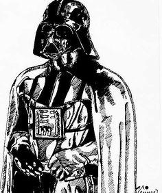 Darth Vader sketch by Gabriel Hardman  Star Wars  Pinterest