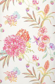 Fenja | Carta da parati fiori | Altre carte da parati | Carta da parati degli anni 70