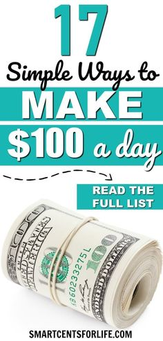 Are you looking for ways to make money fast? Check out these 17 simple ways to make 100 dollars a day! Different money making ideas side hustles and work at home jobs to earn extra money. Earn money making money work from home jobs by ddkpburg Read Earn Money From Home, Make Money Fast, Earn Money Online, Make Money Blogging, Money Tips, Money Saving Tips, Online Jobs, Making Money At Home, Earning Money