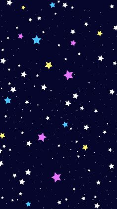 Stars color wallpaper pattern background night by holieli