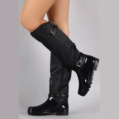 Shoes - Black Rain Boots