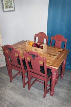 Western Dining Set Painted Fireweed By Sherwin Williams Water To Wine Furniture Design Kuna Idaho
