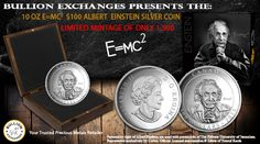 Bullion Exchanges Releases the 2015 $100 Fine Silver Coin Celebrating Canadian Photographer Yousuf Karsh & Albert Einstein's Special Theory of Relativity
