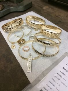 Finished Polishing a wide variety of custom Hawaiian Heirloom Pieces that are being sent to the customers.