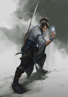 The amazing digital art — Amazing digital illustrations done by Du Showwhy Fantasy Heroes, Fantasy Male, Fantasy Warrior, Fantasy Rpg, Medieval Fantasy, Character Concept, Character Art, Character Design, Fantasy Concept Art