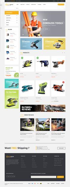 Best Responsive eCommerce Template 2015 #magento #tools #handyman #store