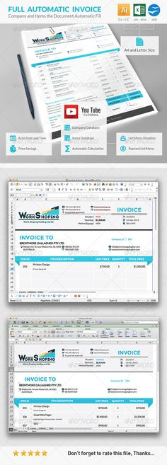 9 Best Free Invoice Template Online images Invoice template word