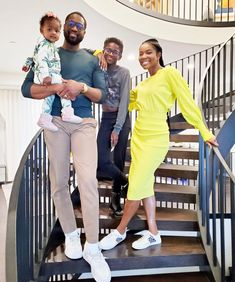 """Dwyane Wade credits wife Gabrielle Union for helping him become more aware, saying she """"gave me some different lenses to look through"""" Black Fathers, Fathers Love, Dwyane Wade Gabrielle Union, Interesting News Articles, Jennifer Love Hewitt, Jennifer Garner, Child Smile, Famous Black, Catherine Zeta Jones"""