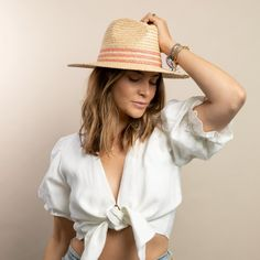 Maise Inset Rancher- Pink Crown Heights, Cruise Wear, Pink Hat, Contrast, How To Wear, Shopping, Clothes, Fashion, Outfits