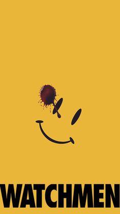 Wallpaper iPhone 5, watchmen, the comedian, smiley