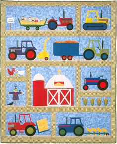The Virginia Quilter - Quilting Patterns - The Country Quilter - On The Farm Quilt Pattern Farm Quilt Patterns, Applique Quilt Patterns, Owl Applique, Paper Patterns, Pattern Fabric, Quilt Baby, Quilting Projects, Quilting Designs, Patchwork Quilting