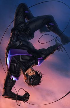 Nightwing /Dick Grayson by? Batgirl, Catwoman, Batman Arkham Knight, Batman Arkham City, Arte Dc Comics, Batman Comics, Batman Art, Robin Dc, Batman Robin