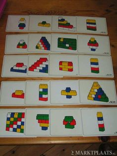 Duplo photograph structures and then laminate Montessori Activities, Motor Activities, Activities For Kids, Lego Duplo, Legos, Lego Therapy, Tangram, Lego Club, Homeschool Math