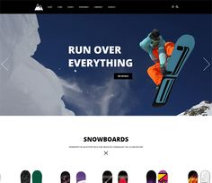 Snowboarding a Flat ECommerce Bootstrap Responsive Web Template Ecommerce, Responsive Web, Sports Website, Html Website Templates, Snowboarding, Web Design, Flat, Snow Board, Design Web