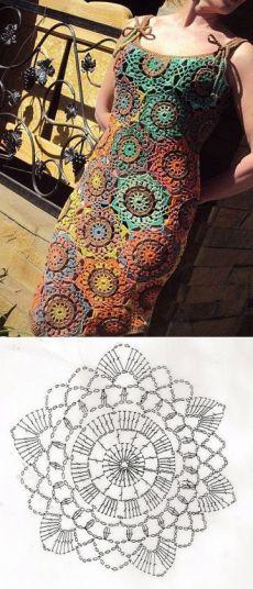 Fabulous Crochet a Little Black Crochet Dress Ideas. Georgeous Crochet a Little Black Crochet Dress Ideas. Crochet Chart, Crochet Motif, Crochet Doilies, Crochet Lace, Crochet Stitches, Crochet Patterns, Irish Crochet, Knitting Patterns, Crochet Bodycon Dresses