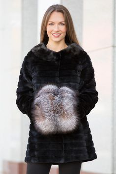 This showpiece Canadian fox fur hand muff feels soft and fabulous and it is the…