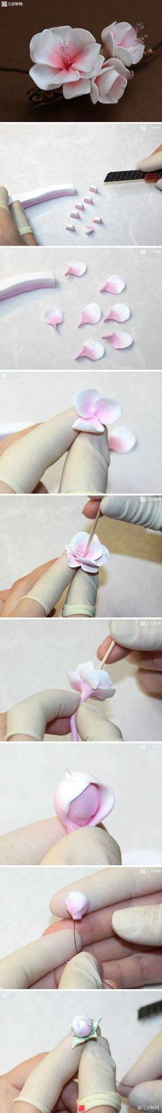 2 toned flower without dusting cake / twee kleuren bloem taart gepind door www.hierishetfeest.com